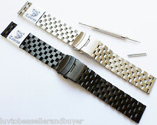 TAURUS® HEAVY SOLID SS SUPER ENGINEER DIVER'S WATCH BAND BRACELET 22mm FOR SEIKO