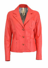 GIACCA VERA PELLE DONNA BLAZER ROSSA WOMAN RED REAL LEATHER JACKET