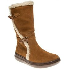New Womens Rocket Dog Tan Slope Suede Boots Knee-High Zip