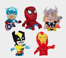 I VENDICATORI MARVEL PELUCHES SPIDERMAN CAPITAN AMERICA, THOR IRON