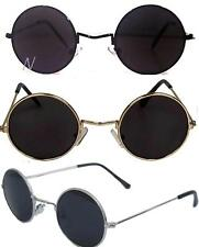 John Lennon Sunglasses Round  Shades Retro Black Gold Silver Frame Smoked Lenses