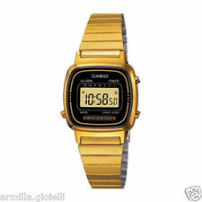 Orologio Digitale Donna Casio LA670WGA-1DF in Acciaio PVD Oro Sveglia Watch Lady