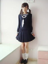 Japanese School Girl Daily Sailor Uniform Cosplay Costume Anime Dress Outfit CV