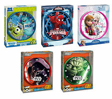 CHILDRENS CHARACTER WALL CLOCK DISNEY PIXAR MARVEL KIDS BEDROOM GIFT BOYS GIRLS
