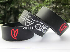 25pcs/lot Stay Strong Demi Lovato Inspired Silicon Promotion Gift Wristband