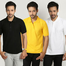 Men's Collar Polo Plain  Tshirt For Men's  Running Jogging Games & Casual Yellow
