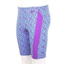 Speedo Boys Monogram Allover Jammer Swim Short Purple Blue