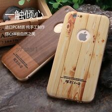 Metal Aluminum Bumper Frame+Wooden Back Cover Case For Apple iPhone 6/6S*