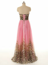 Sweetheart Print Chiffon Formal Evening Party Prom Dresses Gowns Summer Beach