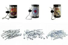 Wooden Golf Tees & Shaker FC Barcelona Real Madrid FC Rangers FC