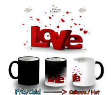 TAZA MAGICA LOVE CORAZONES AMOR MAGIC MUG tasse es