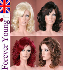 Ladies Long Medium Wig Full Wig Blonde Black Brown Fashion Wig Forever Young