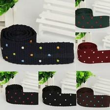 Fashion Mens Polka Dots Knit Tie Slim Skinny Woven Knitted Ties Narrow Necktie