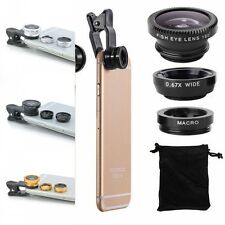 3 in1 Fish Eye+ Wide Angle + Macro Camera Clip-on Lens for iPhone 6/6S Plus/ 5S