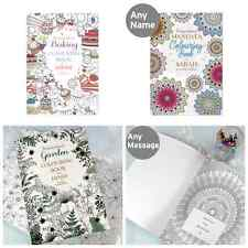 PERSONALISED ADULT DETAILED COLOURING IN BOOK Relaxing Art Gift Idea Christmas