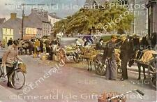 Galway Market Day old Irish Photo Print - Size Selectable