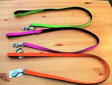Quality dog, puppy lead leash Pink, Orange and Lime green, Durable, Nylon