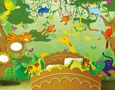 kindertapete papiertapete comic jungle 400x280cm dschungel. Black Bedroom Furniture Sets. Home Design Ideas