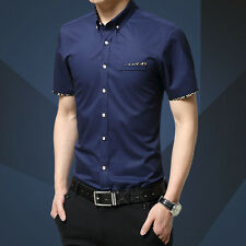 Mens Formal Business Workplace Casual Shirt Imported Shirt Sleeve slim Korean