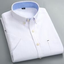 Mens Formal Business Workplace Casual Shirt Imported Shirt Oxford spinning shor
