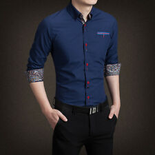 Mens Formal Business Workplace Casual Shirt Imported Shirt casual men long