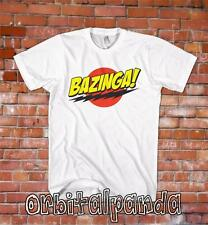 White T-Shirt with Bazinga Design - The Big Bang Theory Sheldon Cooper Penny