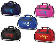 PERSONALISED PRINTED HOLDALL WITH FOOTBALL DESIGN - School sports bag boy kids