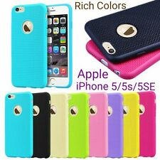 *RICH COLORS*Net Design Soft*TPU*Back Cover Case For Apple iPhone 5/5S/SE *