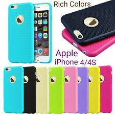 *RICH COLORS*Net Design Soft*TPU*Back Cover Case For Apple iPhone 4/4S *