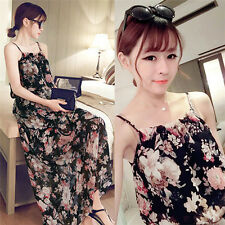 Summer dress Korean summer Bohemia sling Large Size Women Beach floral print
