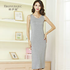 Korean sling modal sleeveless cotton vest vest skirt dress slim long autumn