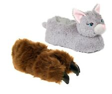 Kids Novelty Plush 3D Animal Character Slippers Boots Boys Girls Xmas Gift Size