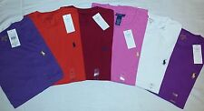 NEW Polo Ralph Lauren Mens Crew Neck Tee Shirt Classic Fit Short Sleeve Colours
