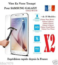 Lot 2  Vitre Film Protection Verre Trempé Samsung Galaxy S5/S6/J5/S7/Grand Prime