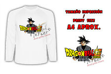 MAGLIETTA GOKU BLACK DRAGON BALL SUPER LOGO MANICHE LUNGHE tshirt LONG ITALY