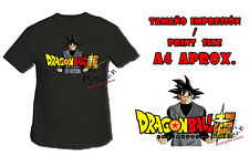 MAGLIETTA GOKU BLACK DRAGON BALL SUPER LOGO NERO tshirt custom ITALY