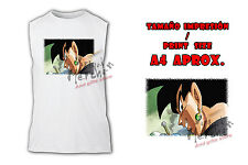 MAGLIETTA BLACK GOKU FACE DRAGON BALL SUPER SIN MANICHE tshirt ITALY