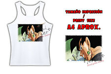 MAGLIETTA BLACK GOKU FACE DRAGON BALL SUPER TIRANTES tshirt ITALY