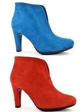 Ladies Fabs Faux Suede High Heel Platform Fashion Ankle Boots Shoes Size- 4301