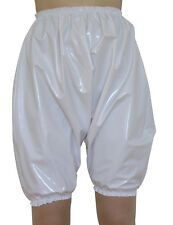 13c13725e43 PVC Bloomers Sissy Pants Knickers Roleplay Panties Plastic Shiny White
