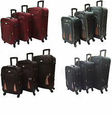 Lightweight 4 Wheel Spinner Suitcase Luggage Trolley Case Cabin Canvas 4Colours
