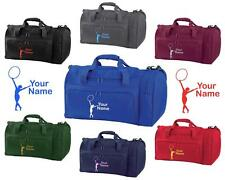 PERSONALISED PRINTED HOLDALL WITH GYMNASTICS DESIGN -bag sack leotard shoe GYM3