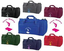 PERSONALISED PRINTED HOLDALL WITH TRAMPOLINE DESIGN -bag sack leotard shoe GYM6