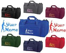 PERSONALISED PRINTED HOLDALL WITH GYMNASTICS DESIGN -bag sack leotard shoe GYM1