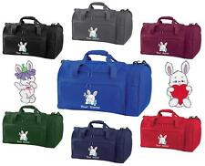 PERSONALISED EMBROIDERED RABBIT HOLDALL-pe kit swim gym sports bag kids sack