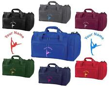 PERSONALISED PRINTED HOLDALL WITH GYMNASTICS DESIGN -bag sack leotard shoe GYM2