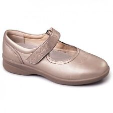 Padders SPRITE 2 Ladies Embroidered Extra Wide Plus Fit Mary Jane Shoes Pewter