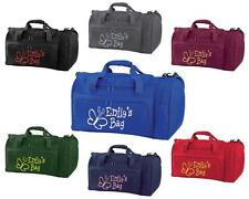 PERSONALISED PRINTED HOLDALL WITH  BUTTERFLY DESIGN - school travel bag dance