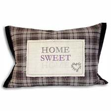 Riva paoletti Home sweet home plum check cover, 35x50cm