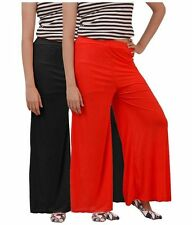 Combo pack of Women Casual Summer Palazzo Pants ,Plazzo Trousers for ladies